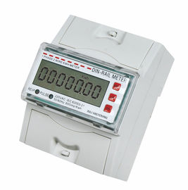 Electronic Single Phase DIN Rail mounting energy meter , portable kwh meter