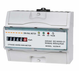 Waterproof Three Phase Din Rail KWH Meter , kilowatt hour meter